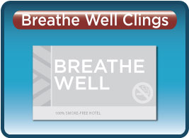 Breathe Well Static Clings